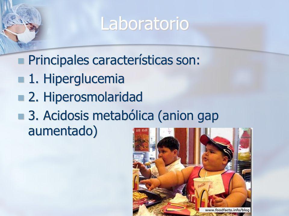 Laboratorio Principales características son: Principales características son: 1.