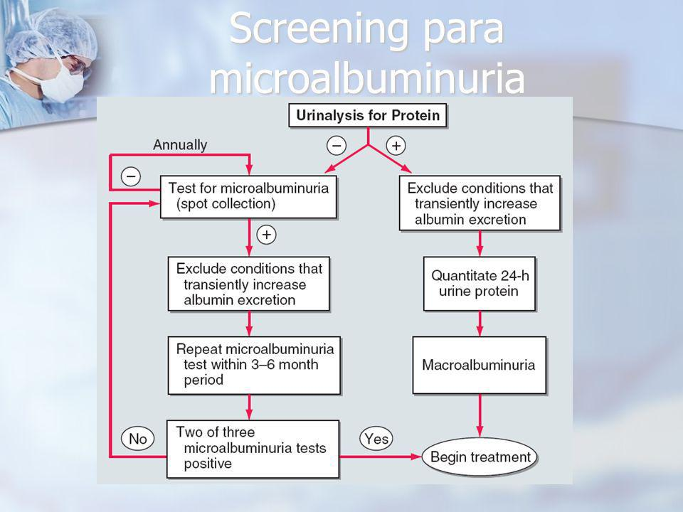 Screening para microalbuminuria
