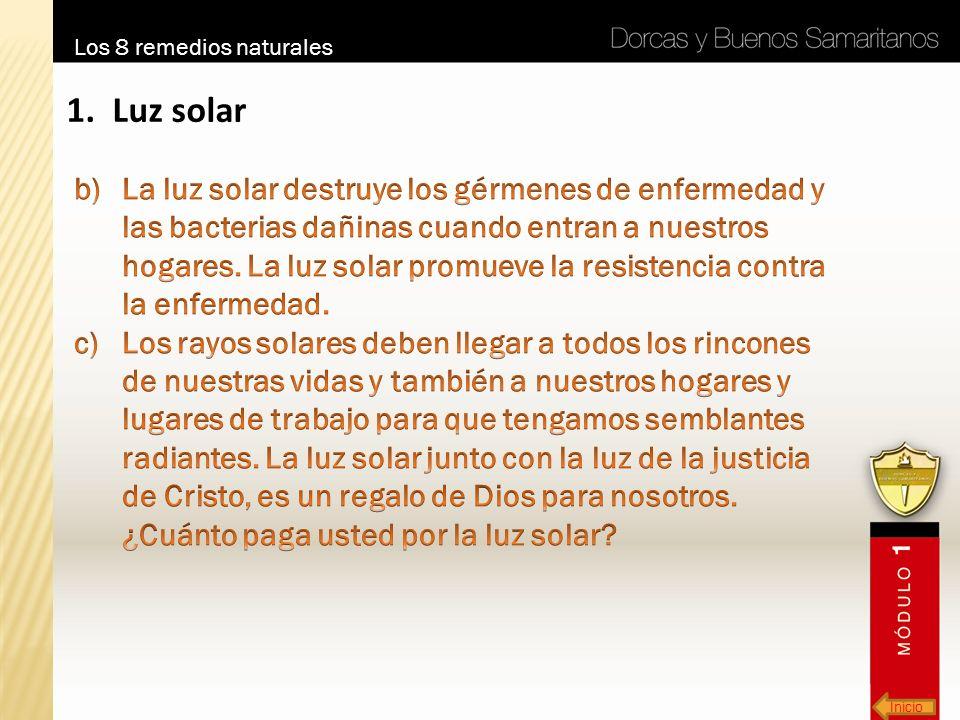 Inicio Los 8 remedios naturales 1. Luz solar