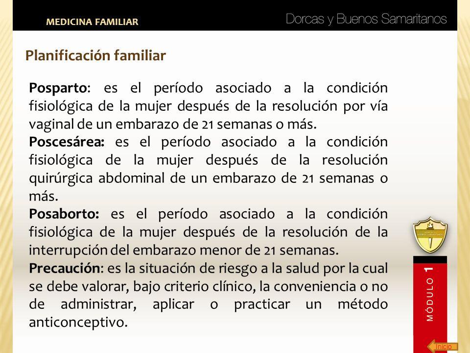 Inicio MEDICINA FAMILIAR Planificación familiar Posparto: es el período asociado a la condición fisiológica de la mujer después de la resolución por v