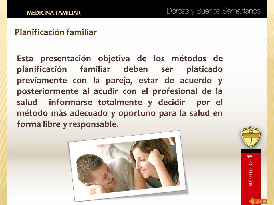 Inicio MEDICINA FAMILIAR Planificación familiar Esta presentación objetiva de los métodos de planificación familiar deben ser platicado previamente co
