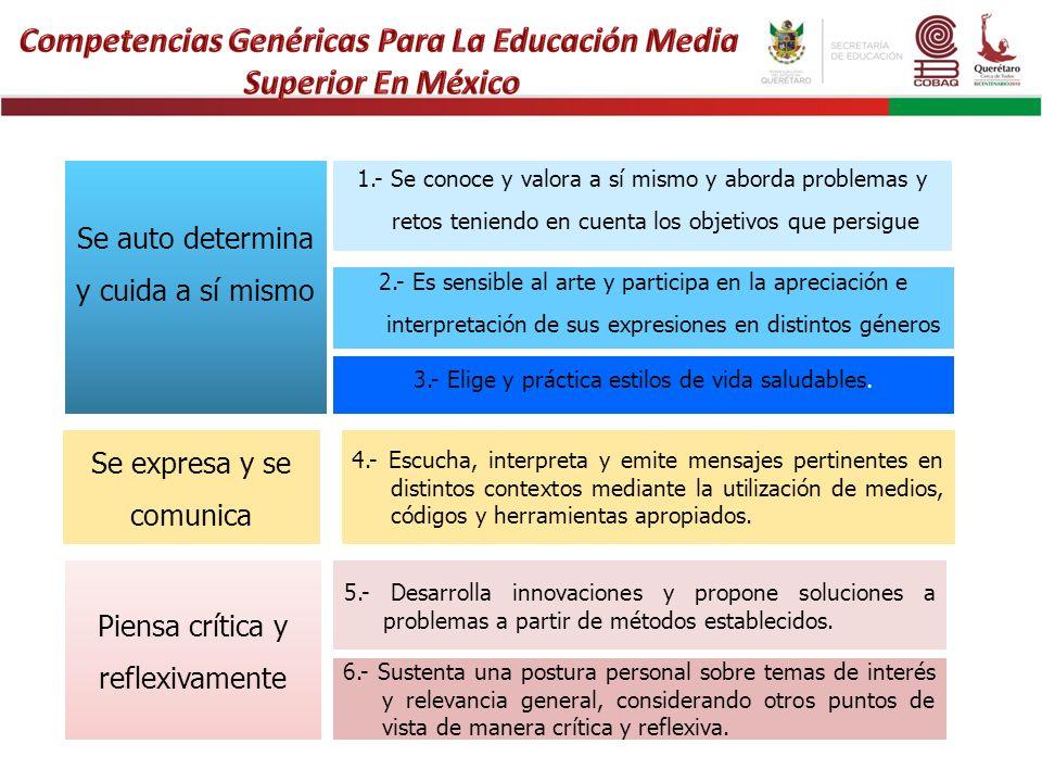 Se expresa y se comunica 4.- Escucha, interpreta y emite mensajes pertinentes en distintos contextos mediante la utilización de medios, códigos y herr