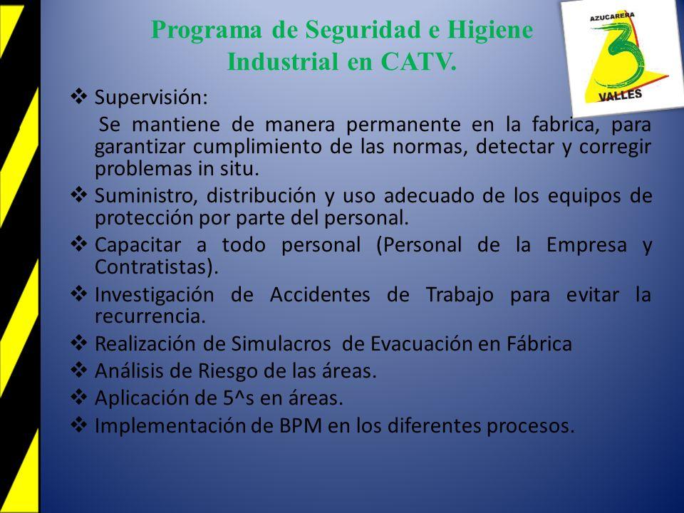 1.Reducción de Accidentes de Trabajo a Cero.2.Mejoras de métodos y condiciones de trabajos.