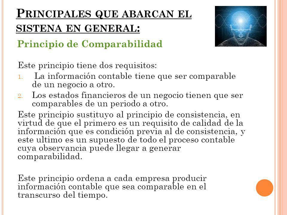 P RINCIPALES QUE ABARCAN EL SISTENA EN GENERAL : Este principio tiene dos requisitos: 1.