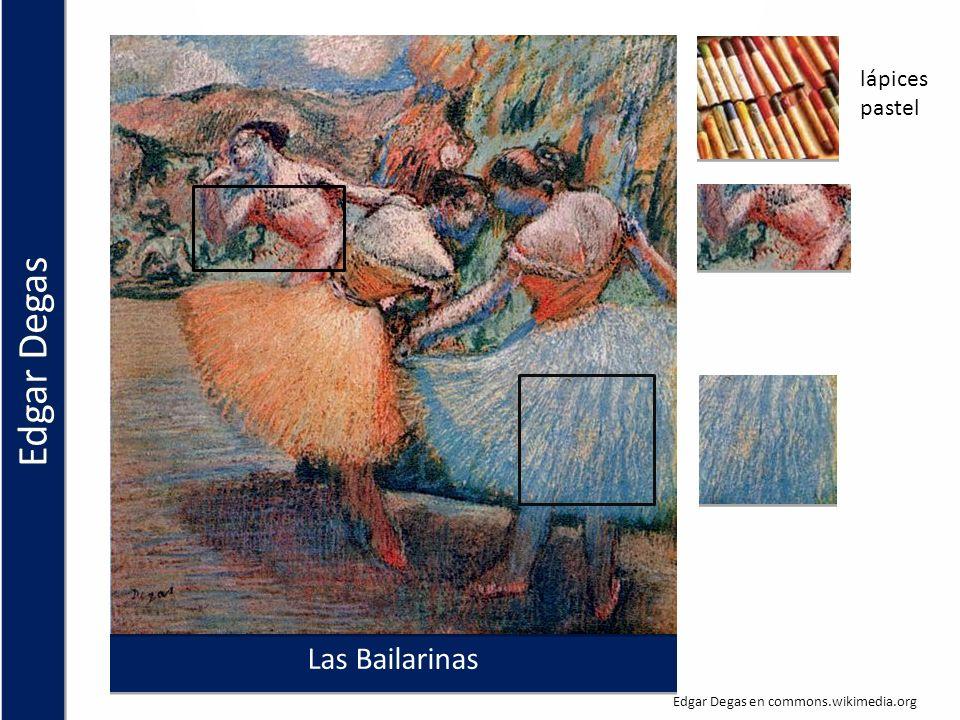 Las Bailarinas lápices pastel Edgar Degas en commons.wikimedia.org