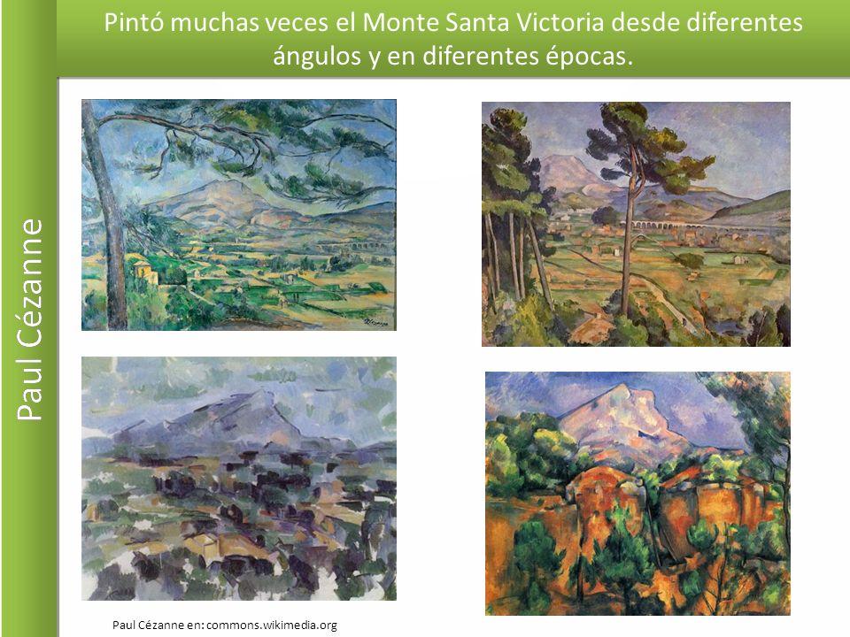 Pintó muchas veces el Monte Santa Victoria desde diferentes ángulos y en diferentes épocas.