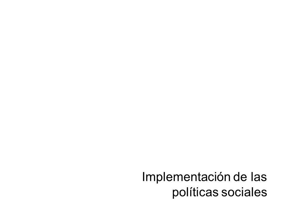 Dirección General de Opinión Pública Implementación de las políticas sociales