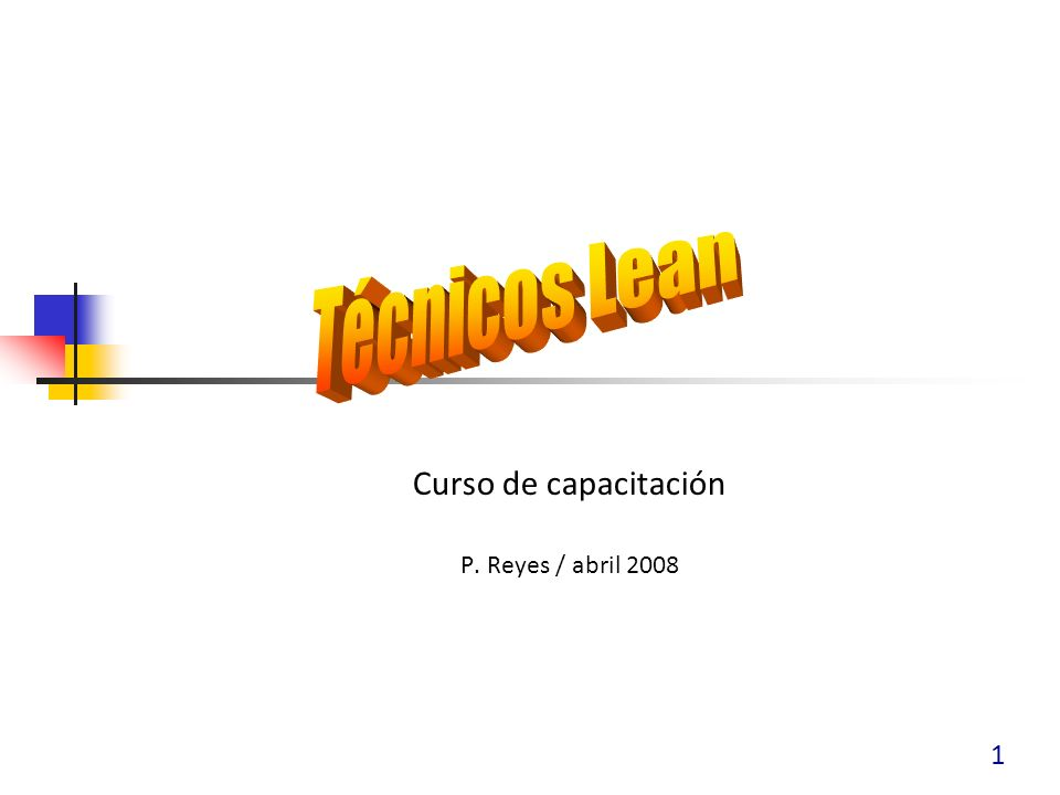 1 Curso de capacitación P. Reyes / abril 2008