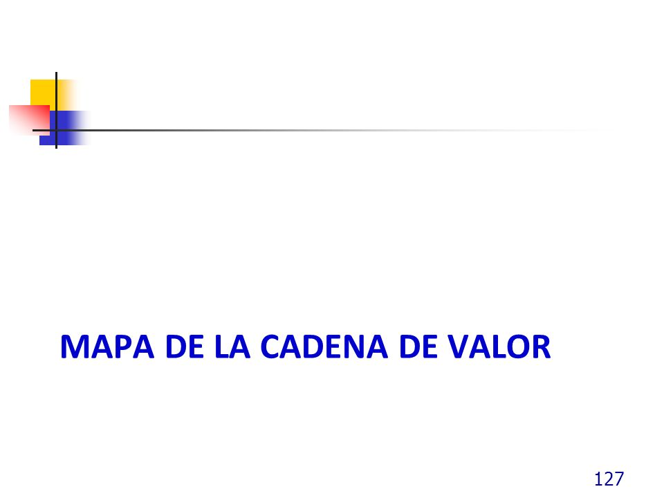 MAPA DE LA CADENA DE VALOR 127