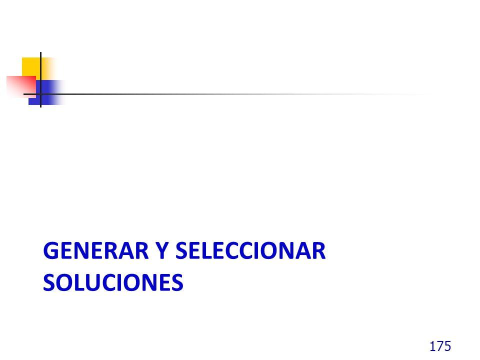 GENERAR Y SELECCIONAR SOLUCIONES 175