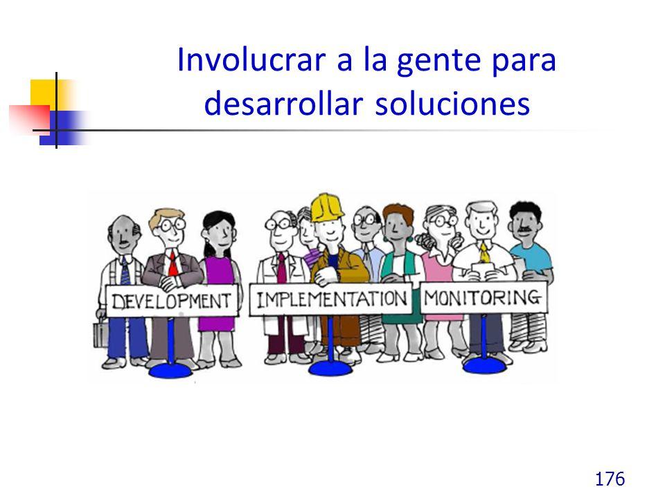 Involucrar a la gente para desarrollar soluciones 176