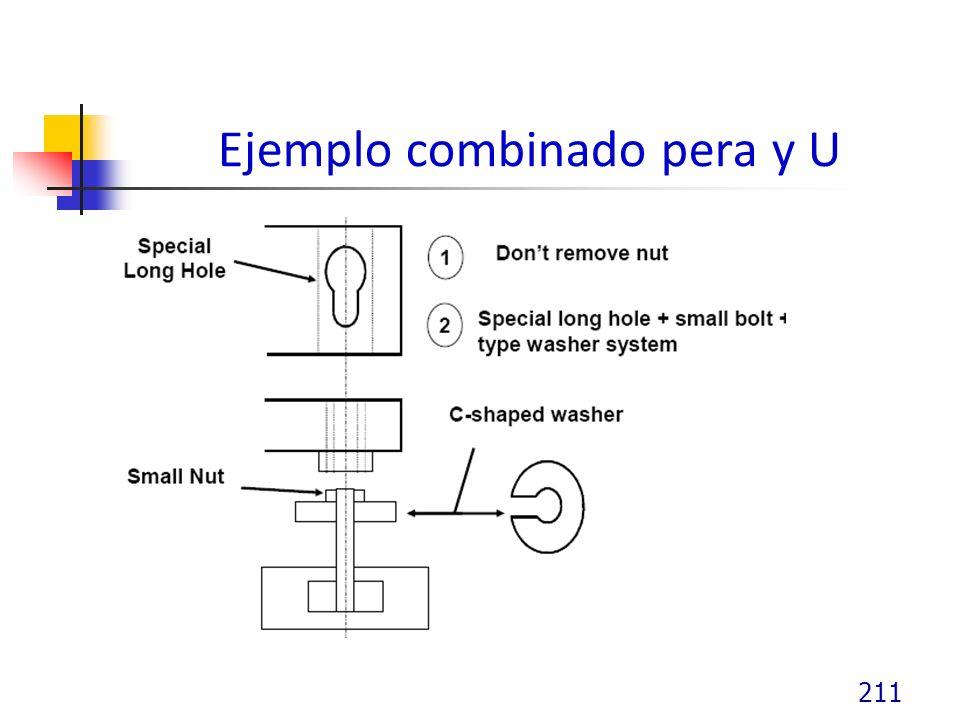Ejemplo combinado pera y U 211