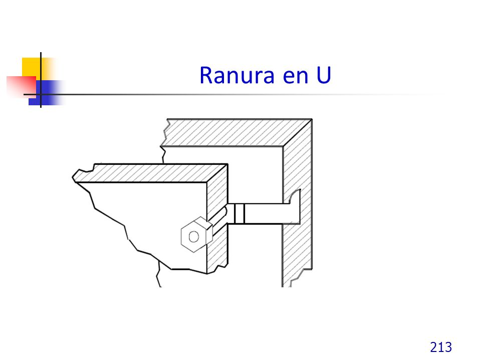 Ranura en U 213
