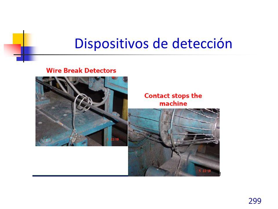 Dispositivos de detección 299