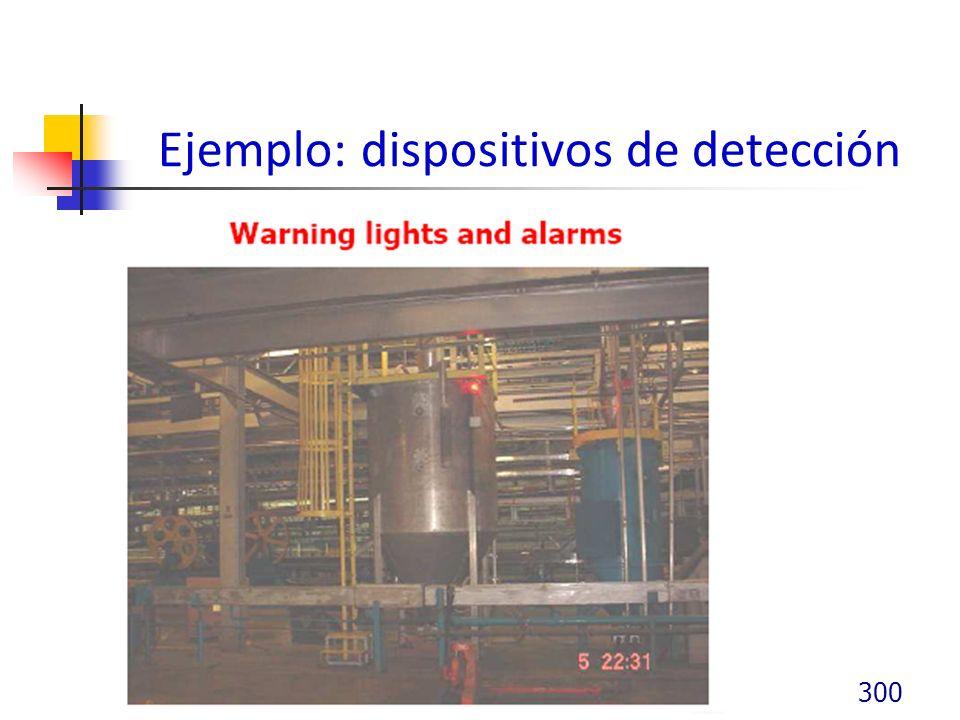 Ejemplo: dispositivos de detección 300