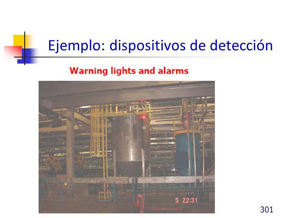 Ejemplo: dispositivos de detección 301