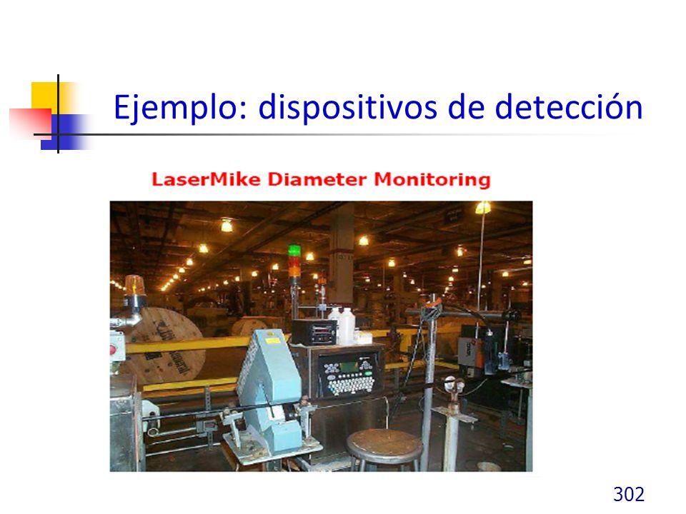Ejemplo: dispositivos de detección 302