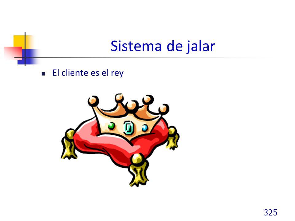 Sistema de jalar El cliente es el rey 325