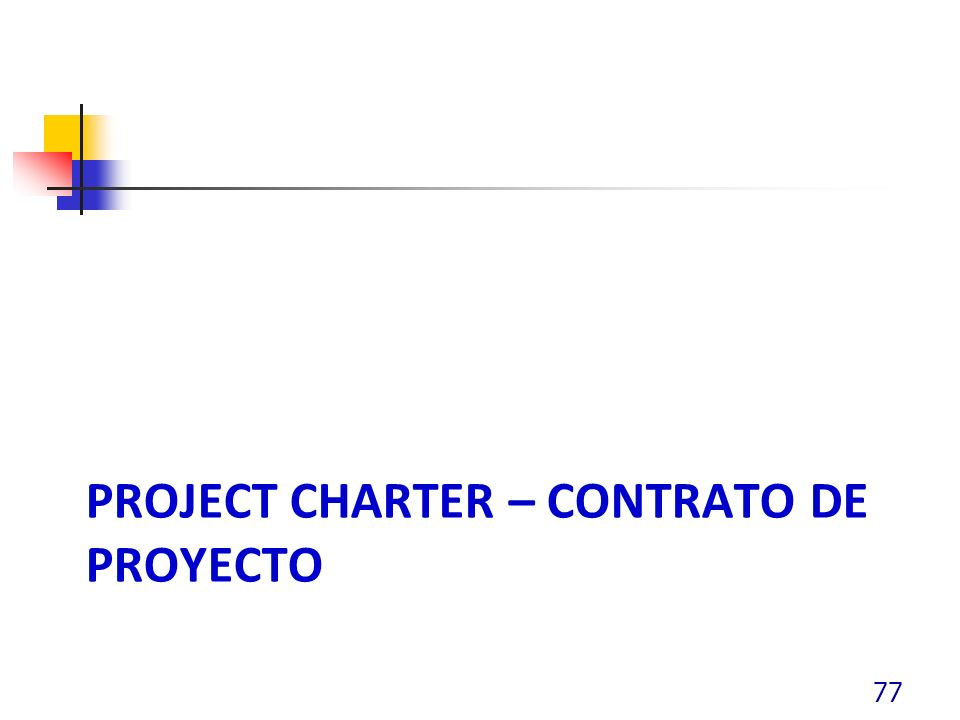 PROJECT CHARTER – CONTRATO DE PROYECTO 77