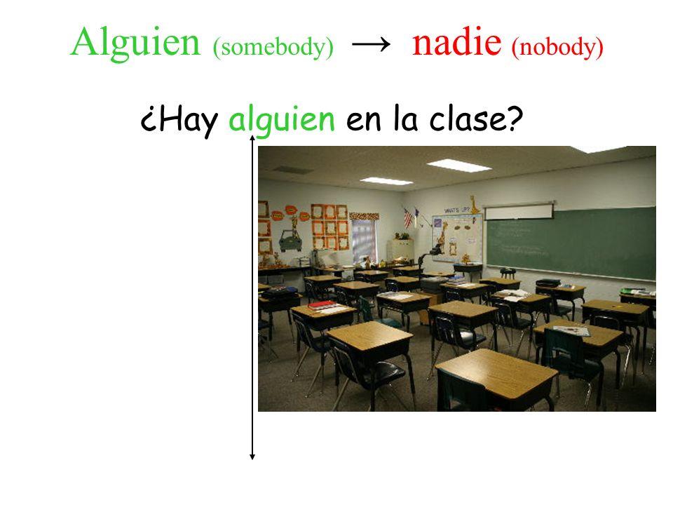 ¿Hay alguien en la clase.No, no hay nadie en la clase.