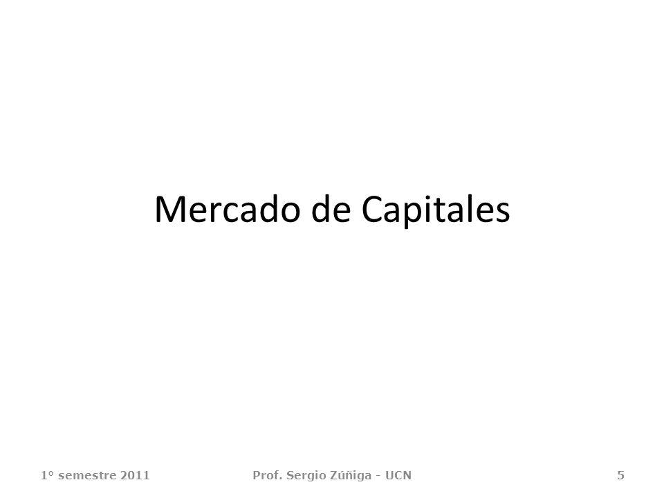 Mercado de Capitales 1° semestre 2011Prof. Sergio Zúñiga - UCN5