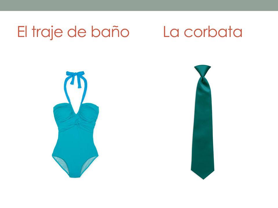 El traje de bañoLa corbata