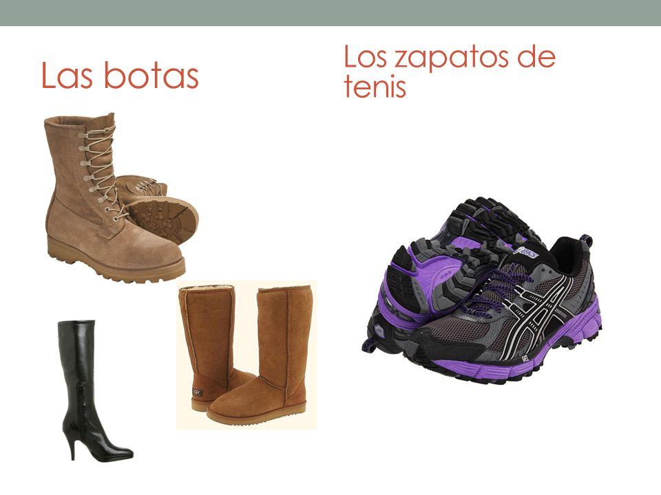 Las botas Los zapatos de tenis