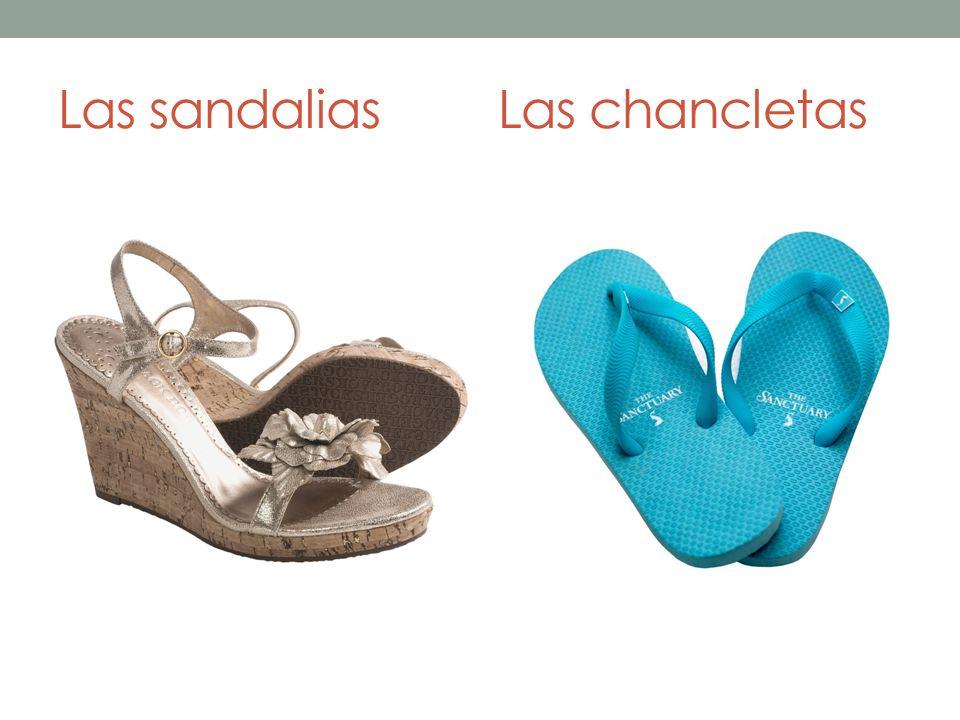 Las sandaliasLas chancletas