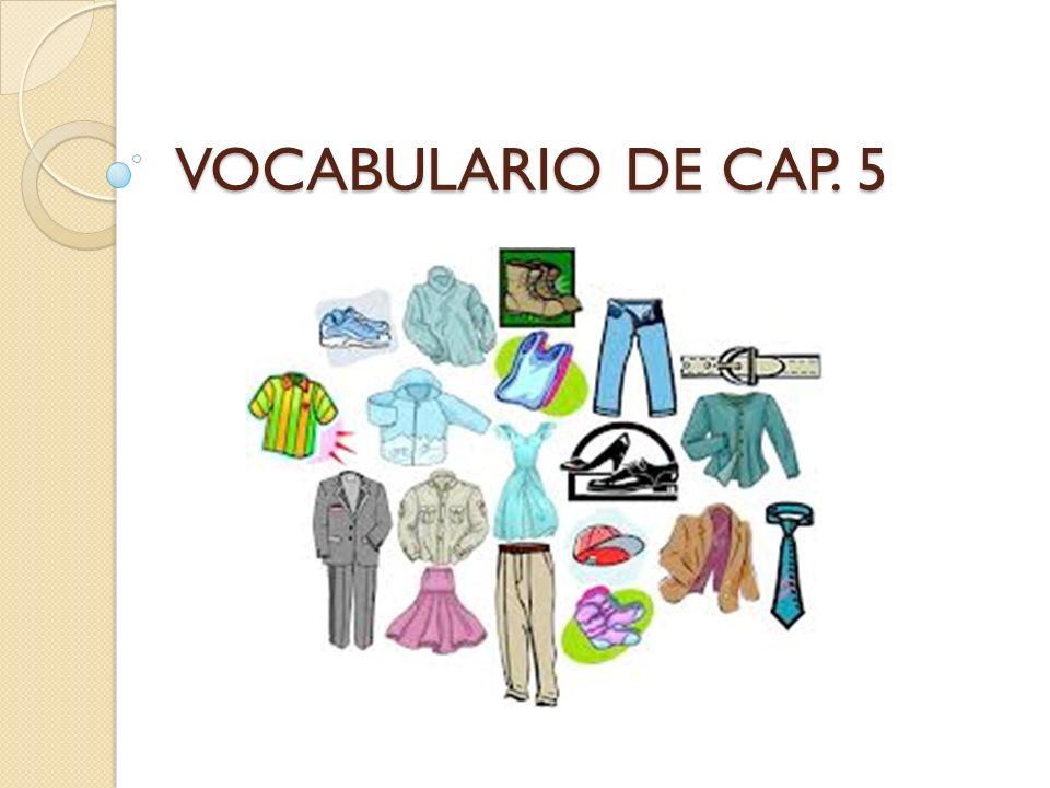 VOCABULARIO DE CAP. 5