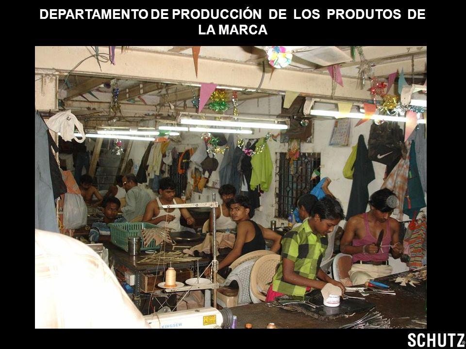 DEPARTAMENTO DE PRODUCCIÓN DE LOS PRODUTOS DE LA MARCA