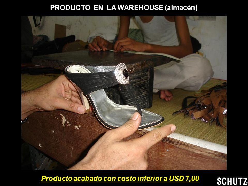 PRODUCTO EN LA WAREHOUSE (almacén) Producto acabado con costo inferior a USD 7,00