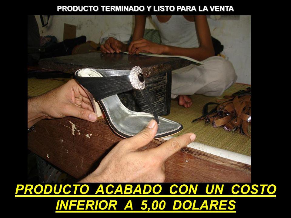 PRODUCTO TERMINADO Y LISTO PARA LA VENTA PRODUCTO ACABADO CON UN COSTO INFERIOR A 5,00 DOLARES