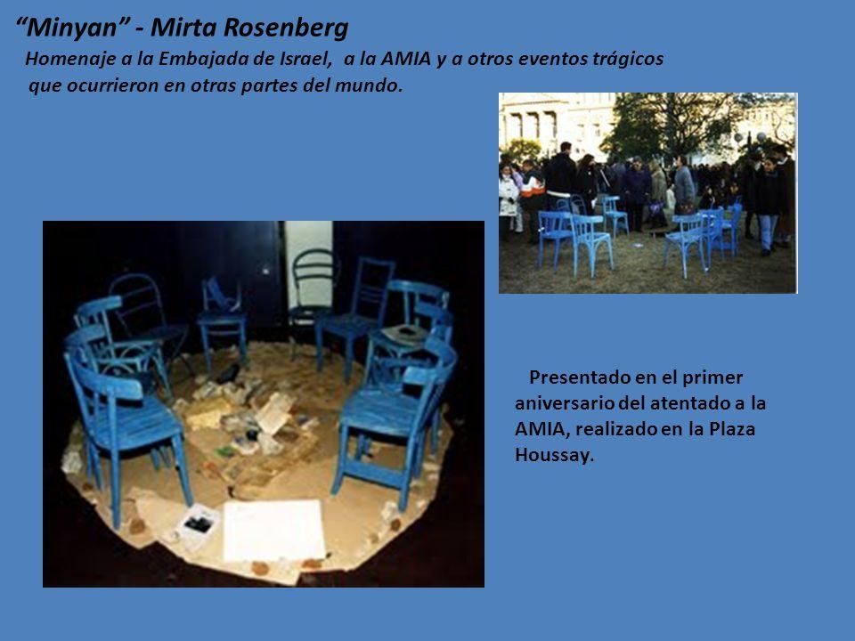 http://www.arteamundo.com/mirtarosenberg/mesa.htm http://www.amia.org.ar/index.php/site/index http://www.lanacion.com.ar/1547975-memoriales-en-buenos-aires-un- grito-silencioso-de-nunca-mas Agradecemos a Mirta Rosenberg, quien con sensibilidad y generosidad nos ha proporcionado este material para ser utilizado como recurso educativo para continuar cultivando la memoria Links consultados: