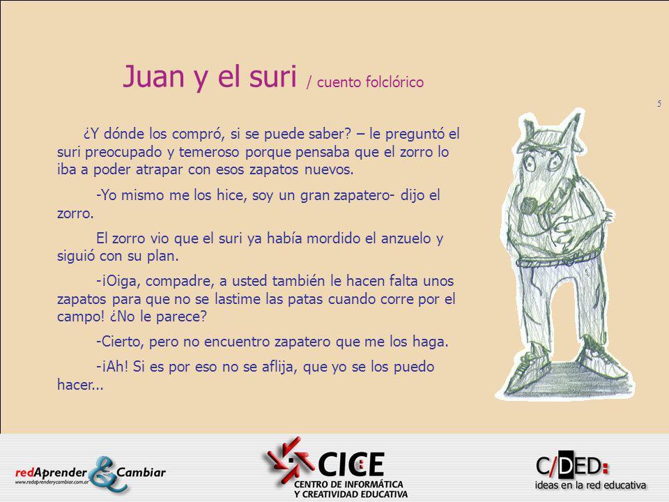5 Juan y el suri / cuento folclórico ¿Y dónde los compró, si se puede saber? – le preguntó el suri preocupado y temeroso porque pensaba que el zorro l