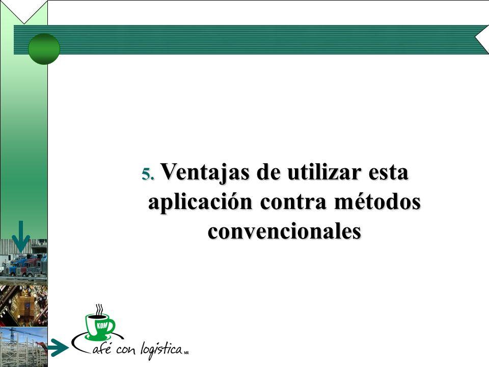 5. Ventajas de utilizar esta aplicación contra métodos convencionales