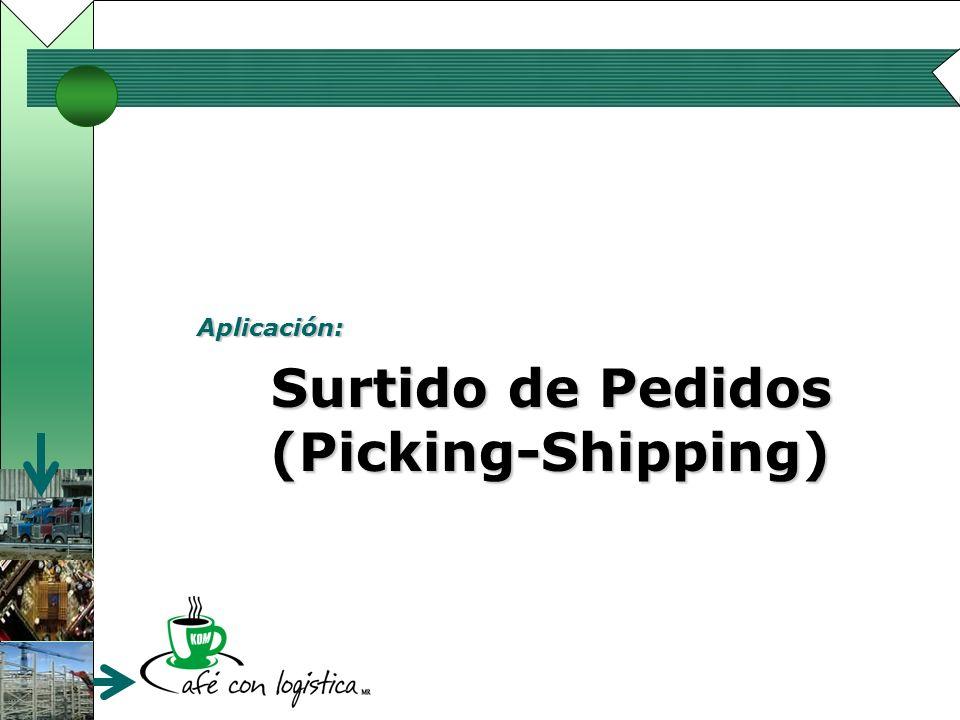 Aplicación: Surtido de Pedidos (Picking-Shipping) Surtido de Pedidos (Picking-Shipping)