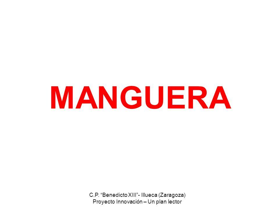 C.P. Benedicto XIII- Illueca (Zaragoza) Proyecto Innovación – Un plan lector MANGUERA