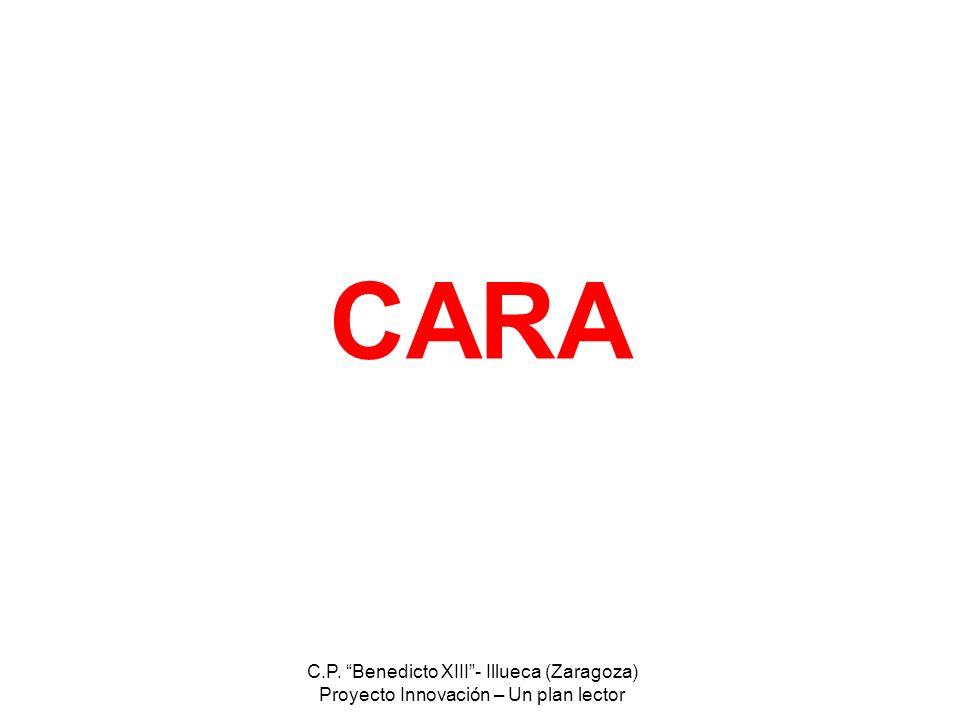 C.P. Benedicto XIII- Illueca (Zaragoza) Proyecto Innovación – Un plan lector CARA
