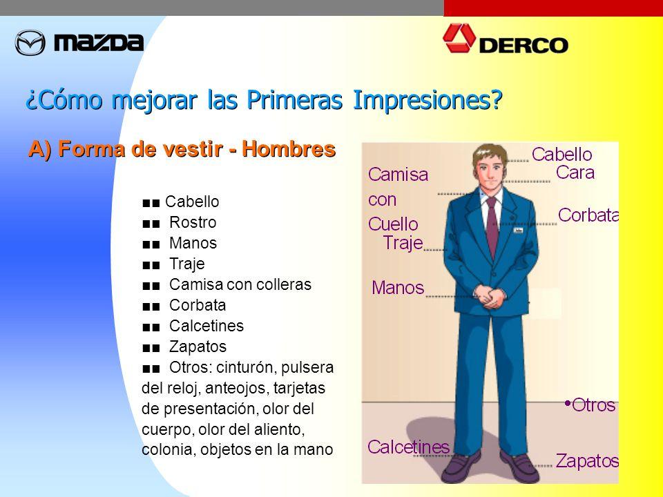 A) Forma de vestir - Hombres Cabello Rostro Manos Traje Camisa con colleras Corbata Calcetines Zapatos Otros: cinturón, pulsera del reloj, anteojos, t