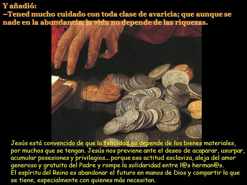 Uno de entre la gente le dijo: –Maestro, di a mi hermano que reparta conmigo la herencia. Jesús le dijo: –Amigo, ¿quién me ha hecho juez o árbitro ent