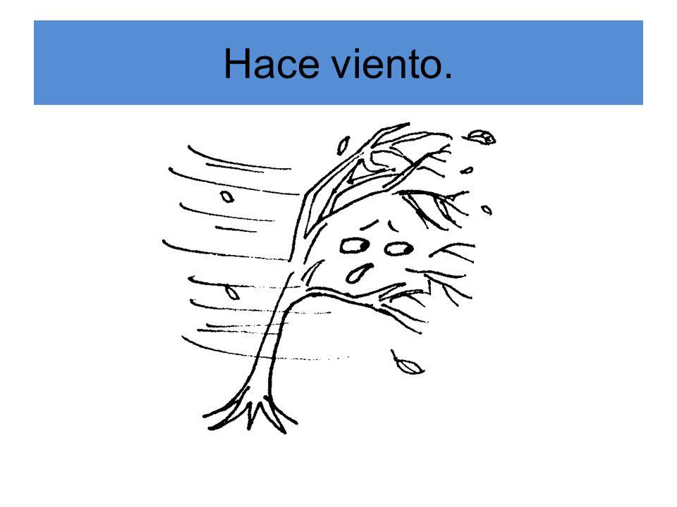 Hace viento.
