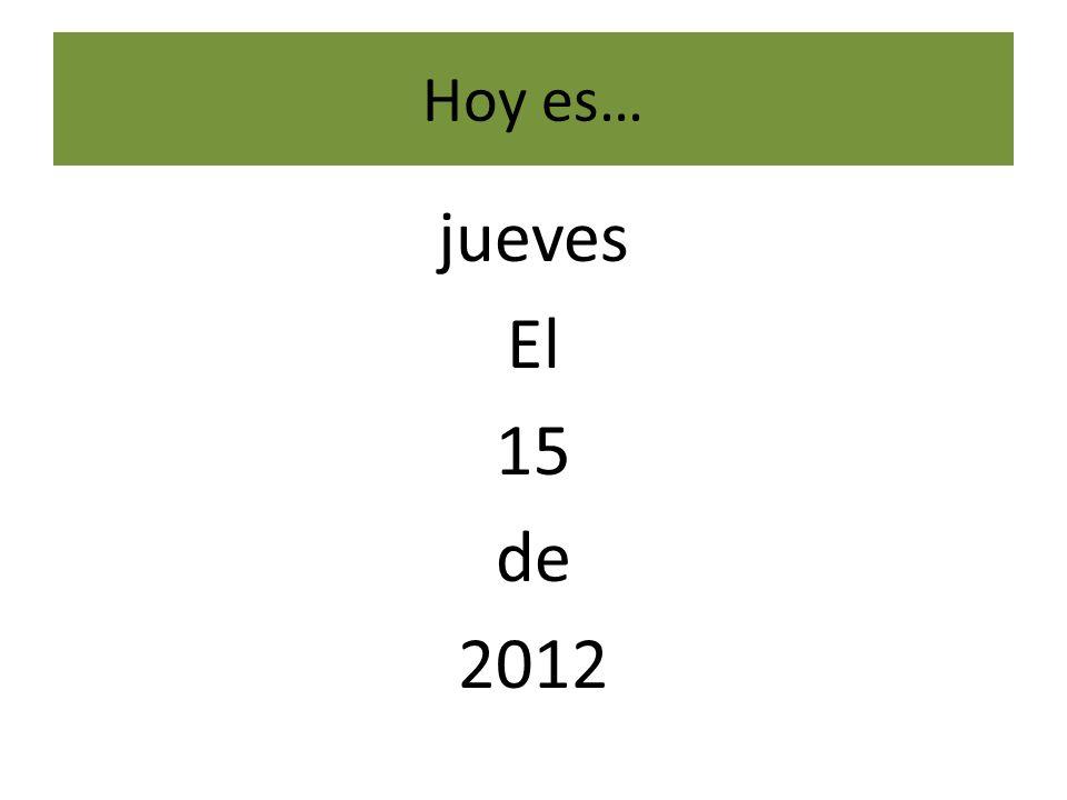 Hoy es… viernes el 16 de 2012