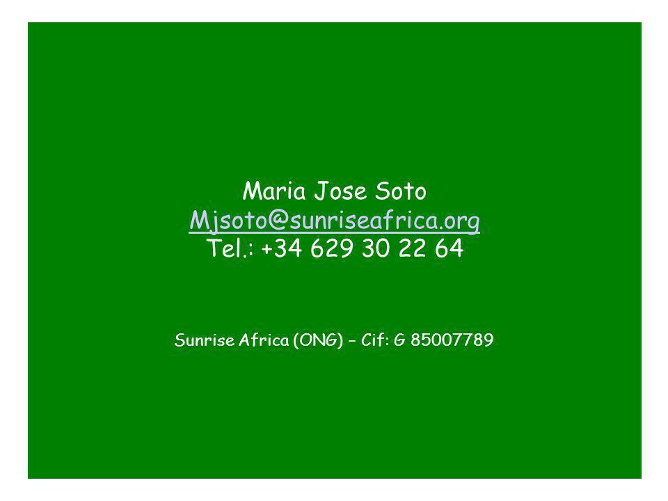...Y por supuesto si queréis hacer donaciones dinerarias o conocer mas de cerca los proyectos de la fundación por favor poneros en contacto conmigo Beneficiario: Sunrise Africa Numero de cuenta: 0072-0513-16-0000108316