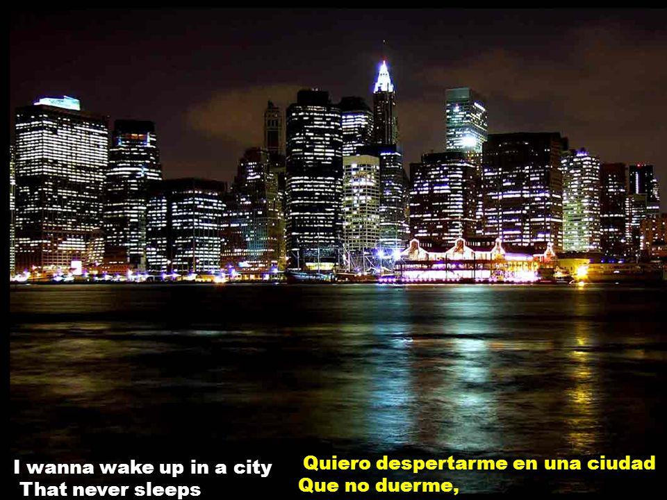 I wanna wake up in a city That never sleeps Quiero despertarme en una ciudad Que no duerme,