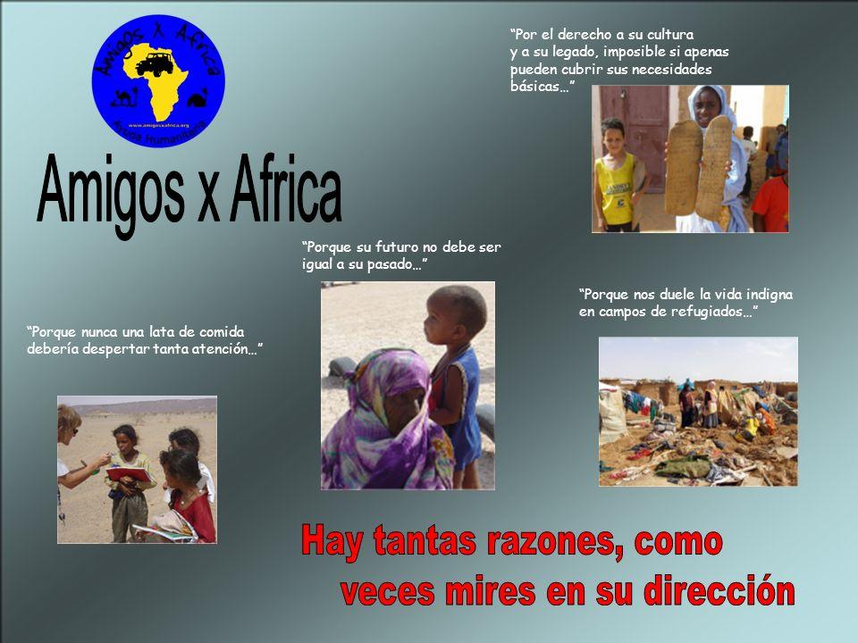 ¿ Por qué Amigos x África ? Porque creemos en los derechos humanos; porque hemos visto que el tercer mundo existe en realidad y nos mira a los ojos… P