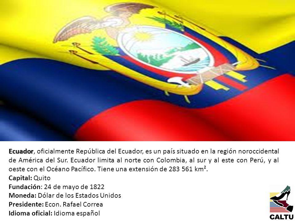 Ecuador Ecuador, oficialmente República del Ecuador, es un país situado en la región noroccidental de América del Sur. Ecuador limita al norte con Col