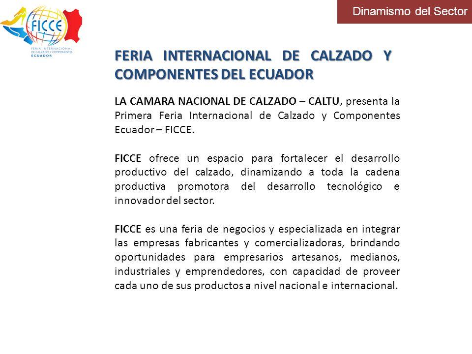 Dinamismo del Sector FERIA INTERNACIONAL DE CALZADO Y COMPONENTES DEL ECUADOR LA CAMARA NACIONAL DE CALZADO – CALTU, presenta la Primera Feria Interna