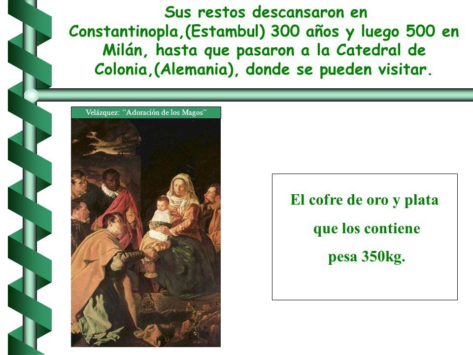Sus restos descansaron en Constantinopla,(Estambul) 300 años y luego 500 en Milán, hasta que pasaron a la Catedral de Colonia,(Alemania), donde se pueden visitar.
