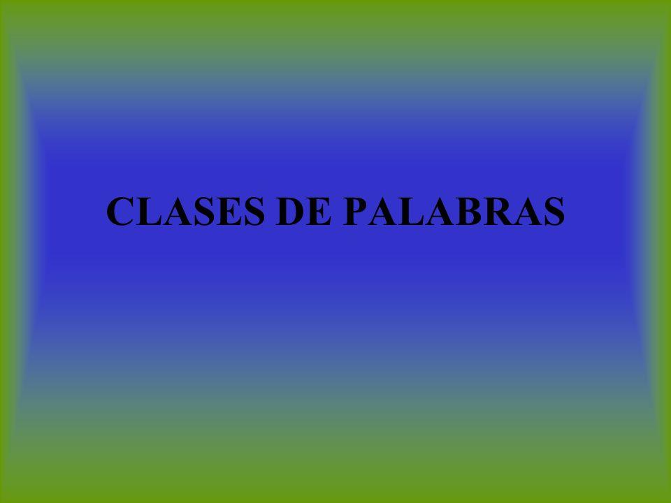 CLASES DE PALABRAS
