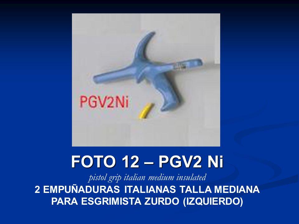 FOTO 12 – PGV2 Ni pistol grip italian medium insulated 2 EMPUÑADURAS ITALIANAS TALLA MEDIANA PARA ESGRIMISTA ZURDO (IZQUIERDO)